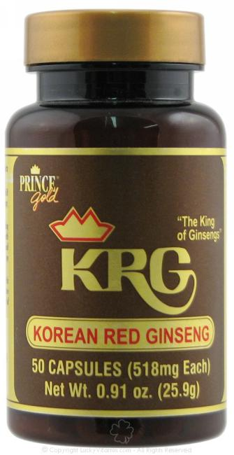 Prince of Peace, Korean Red Ginseng 500mg, 50 caps